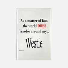 Westie World Rectangle Magnet