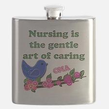 nursing blue bird CNA Flask