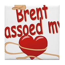 brent-b-lassoed Tile Coaster