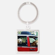 We Are Moving Square Keychain