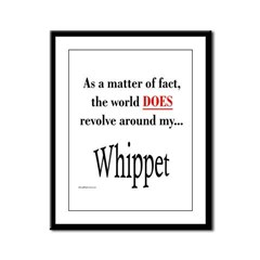 Whippet World Framed Panel Print