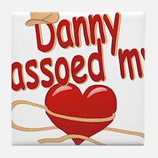 danny-b-lassoed Tile Coaster