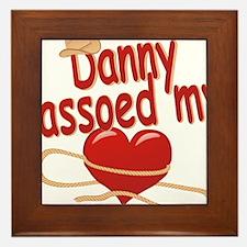 danny-b-lassoed Framed Tile