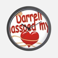 darrell-b-lassoed Wall Clock