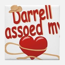 darrell-b-lassoed Tile Coaster