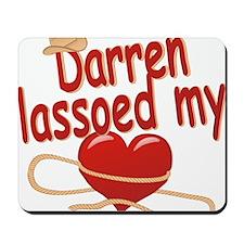 darren-b-lassoed Mousepad