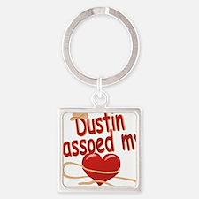 dustin-b-lassoed Square Keychain