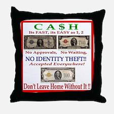 CASH Throw Pillow