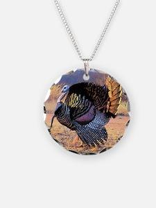 Wild turkey gobbler Necklace Circle Charm