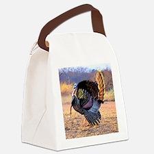 Wild turkey gobbler Canvas Lunch Bag