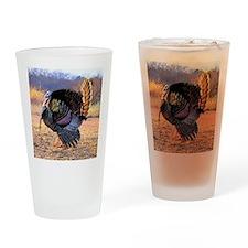 Wild turkey gobbler Drinking Glass