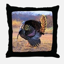 Wild turkey gobbler Throw Pillow