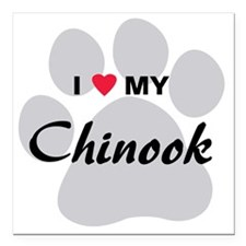 "chinook Square Car Magnet 3"" x 3"""