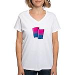 Flying Bi Pride Women's V-Neck T-Shirt