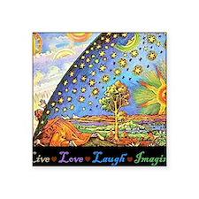 """Live Love Laugh Imagined Square Sticker 3"""" x 3"""""""