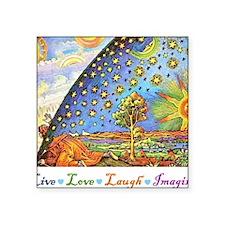 """Live Love Laugh Imagine Square Sticker 3"""" x 3"""""""