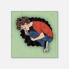 """fetal-kneval-TIL Square Sticker 3"""" x 3"""""""