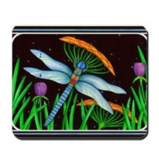 DRAGONFLY AT REST Mousepad