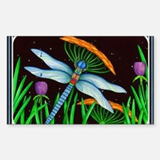 DRAGONFLY AT REST Decal