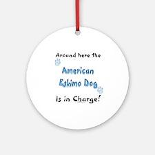 American Eskimo Charge Ornament (Round)