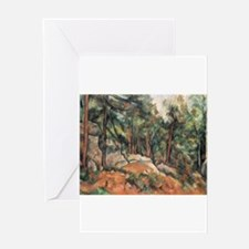 In the Forest - Paul Cezanne - c1898 Greeting Card