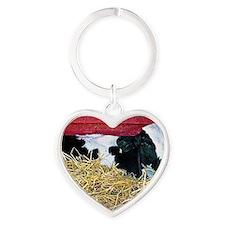 Cow Photo Heart Keychain