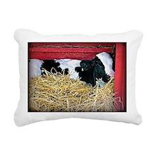 Cow Photo Rectangular Canvas Pillow