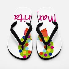Christmas-wreath-Margarita Flip Flops