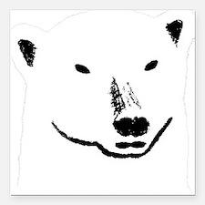 "Andy plain white face tr Square Car Magnet 3"" x 3"""
