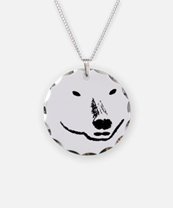 Andy plain white face transp Necklace