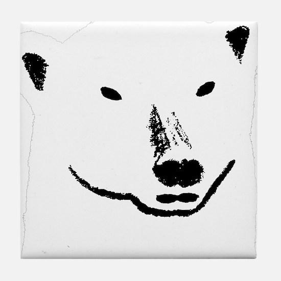 Andy plain white face transparent bac Tile Coaster