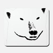 Andy plain white face transparent backgr Mousepad