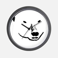 Andy plain white face transparent backg Wall Clock