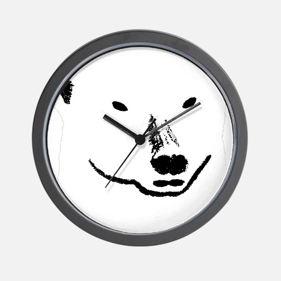 Andy plain white face transparent backg Wall Clock