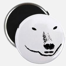 Andy plain white face transparent backgroun Magnet