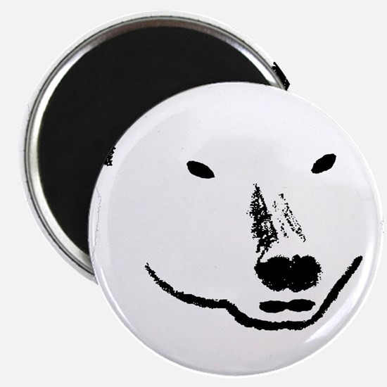 Andy plain white face transparent backgroun Magnet