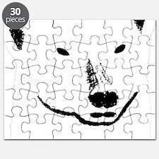 Andy plain white face transparent backgroun Puzzle