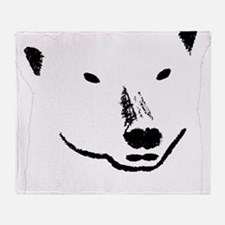 Andy plain white face transparent ba Throw Blanket