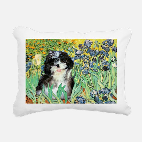 Irises - Shih Tzu 12 Rectangular Canvas Pillow