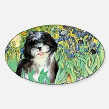 Irises - Shih Tzu 12 Decal