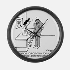 3071_medical_cartoon Large Wall Clock