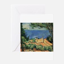 L'Estaque With Red Roofs - Paul Cezanne - c1883 Gr