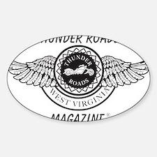 old_Thunder-roadsblack Sticker (Oval)