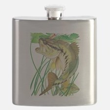 Largemouth Bass with Lily Pads copy Flask