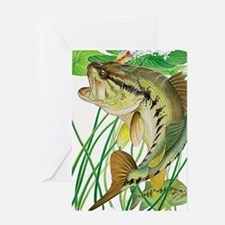 Largemouth Bass with Lily Pads copy Greeting Card