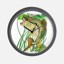 Largemouth Bass with Lily Pads copy Wall Clock
