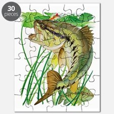 Largemouth Bass with Lily Pads copy Puzzle