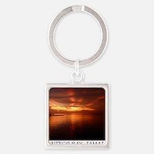 Montego Bay Sunset Square Keychain