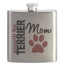 D Smooth Fox Terrier Mom 2 Flask