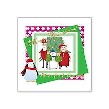 "Claus Family Portrait (2) Square Sticker 3"" x 3"""